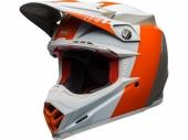 Casque BELL Moto-9 Flex Division BLANC/ORANGE/SAND casques