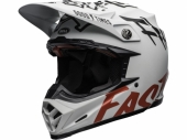 Casque BELL Moto-9 Flex Fasthouse WRWF BLANC MATTE/ROUGE casques