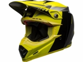 Casque BELL Moto-9 Flex Division Black/Hi Viz/gris casques
