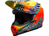 Casque BELL Moto-9 Mips Tagger Breakout  ORANGE /JAUNE  casques