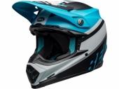 Casque BELL Moto-9 Mips Prophecy BLANC MATTE/BLEU/NOIR casques