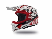 Casque CROSS UFO Intrepid BLANC MATT/ ROUGE /NOIR casques
