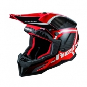 CASQUE HEBO MX LEGEND CARBON ROUGE casques