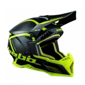 CASQUE HEBO MX LEGEND CARBON JAUNE casques