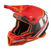 CASQUE HEBO MX   RANSOM FIBRE ROUGE casques
