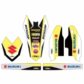 KIT DECO FACTORY EFFEX TRIM SUZUKI 125 RM 2001-2008 kit deco effex