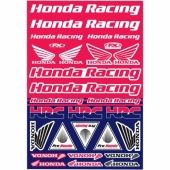 KIT AUTOCOLLANTS UNIVERSEL EFFEX HONDA RACING planche auto collants