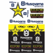 KIT AUTOCOLLANTS UNIVERSEL EFFEX HUSQVARNA RACING planche auto collants