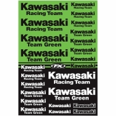 KIT AUTOCOLLANTS UNIVERSEL EFFEX KAWASAKI RACING planche auto collants
