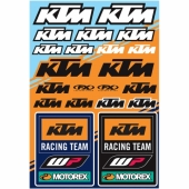 KIT AUTOCOLLANTS UNIVERSEL EFFEX KTM RACING planche auto collants