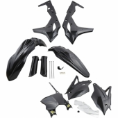 KIT PLASTIQUE CYCRA 6 ELEMENTS KAWASAKI NOIR 250 KX-F 2017-2019 kit plastique cycra powerflow