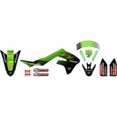 KIT DECO BLACK BIRD REPLICA RACING TEAM KAWASAKI 125/250 KX  2003-2008 kit deco