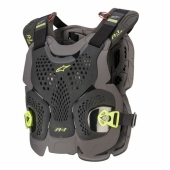 PARE PIERRE ALPINESTARS A-1 PLUS CHEST NOIR/ANTHRACITE/JAUNE FLUO pare pierre