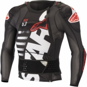 GILET PROTECTION ALPINESTARS SEQUENCE NOIR/ROUGE/BLANC gilets protection