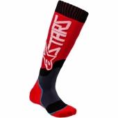 chaussettes alpinestars JUNIOR MX PLUS2 ROUGE / BLANC jambieres chaussettes