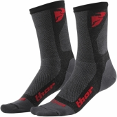 chaussette thor DUAL SPORT CHARCOAL ROUGE jambieres chaussettes