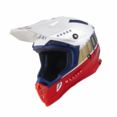 CASQUE MOTO CROSS PULL-IN RACE GRIS/CYAN casques