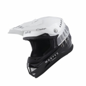 CASQUE MOTO CROSS PULL-IN KID TRASH BLANC/NOIR casque kids