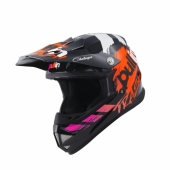CASQUE MOTO CROSS PULL-IN KID TRASH NAVY/ORANGE casque kids