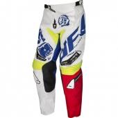 PANTALON CROSS UFO DRAFT BLANC/ROUGE/JAUNE FLUO maillots pantalons