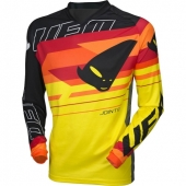 MAILLOT CROSS UFO JOINT NOIR/JAUNE