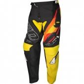 PANTALON CROSS UFO JOINT NOIR/JAUNE maillots pantalons