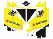 Kit déco de grille de radiateur Blackbird SUZUKI 450 RM-Z 2018-2020 kit deco radiateur