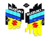 Kit déco de grille de radiateur Blackbird SUZUKI 125/250 RM 2001-2009 kit deco radiateur
