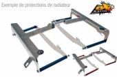 Protection de radiateur AXP entretoises rouges Honda 250 CR-F 2018-2019 protections radiateur