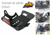 Sabot enduro AXP PHD noir KTM 450 EXC-R 2008-2011 sabots axp