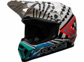 Casque BELL MX-9 Mips Check Me Out Gloss NOIR/BLANC casques