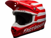 Casque BELL Moto-9 Mips Signia Matte ROUGE/BLANC casques