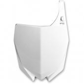 Plaque numéro frontale Polisport blanche YAMAHA 85 YZ 2015-2020 plastique polisport