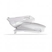 Plaques latérales Polisport blanche YAMAHA 85 YZ 2002-2014 plastique polisport