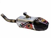 Silencieux FRESCO Carby aluminium/casquette carbone HUSQVARNA 125 TC 2014-2015 echappements