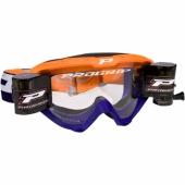LUNETTE  PROGRIP 3450 RIOT ORANGE FLUO / BLEUE AVEC ROLL OFF  lunettes