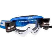 LUNETTE  PROGRIP 3450 RIOT BLEU CLAIR / BLANCHE AVEC ROLL OFF  lunettes