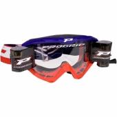 LUNETTE  PROGRIP 3450 RIOT BLEUE / ROUGE AVEC ROLL OFF lunettes