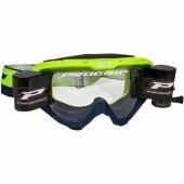 LUNETTE  PROGRIP 3450 RIOT JAUNE FLUO / NAVY AVEC ROLL OFF lunettes