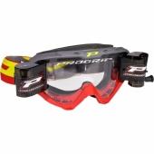 LUNETTE  PROGRIP 3450 RIOT GRISE / ROUGE AVEC ROLL OFF  lunettes