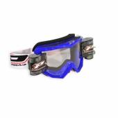 LUNETTE  PROGRIP 3208 MX/ENDURO BLEUE AVEC ROLL OFF lunettes