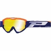 LUNETTE PROGRIP 3450 RIOT  BLEU ELECTRIQUE / JAUNE FLUO AVEC VERRES MIROIR lunettes