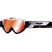 LUNETTE PROGRIP 3450 RIOT BLANCHE / NOIRE AVEC VERRES MIRROIR lunettes