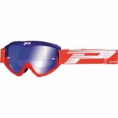LUNETTE PROGRIP 3450 RIOT  BLEUE / ROUGE AVEC VERRES MIROIR lunettes