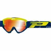 LUNETTE PROGRIP 3450 RIOT  JAUNE FLUO / NAVY AVEC VERRES MIROIR lunettes