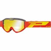 LUNETTE PROGRIP 3450 RIOT  GRISE / ROUGE AVEC VERRES MIROIR lunettes