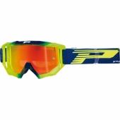LUNETTE PROGRIP MX 3200 VENON MIRROR NAVY / JAUNE FLUO lunettes
