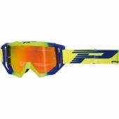 LUNETTE PROGRIP MX 3200 VENON MIRROR JAUNE FLUO / BLEUE lunettes