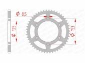 Couronne AFAM  acier standard HONFA 250 CR-F 2014-2020 pignon couronne