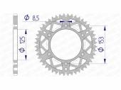 Couronne AFAM alu ultra-light anti-boue HONDA 450 CR-F 2017-2020 pignon couronne